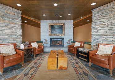 The Clubhouse lobby in the Bear Trap Lounge and Bar at Tahoe Ridge Resort