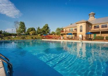 Outdoor pool at Timber Creek Resort in De Soto, MO