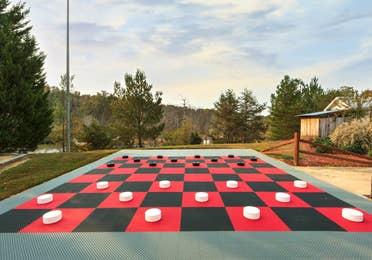 Oversized checkerboard at Apple Mountain Resort in Clarkesville, GA