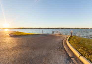 Lakefront view from Piney Shores Resort in Conroe, Texas
