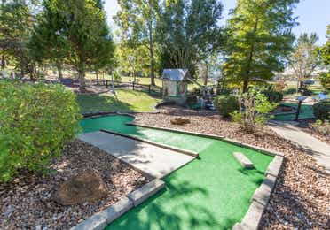 Outdoor mini golf course at Piney Shores Resort in Conroe, Texas