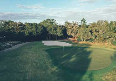 Golf course in East Village at Orange Lake Resort near Orlando, Florida