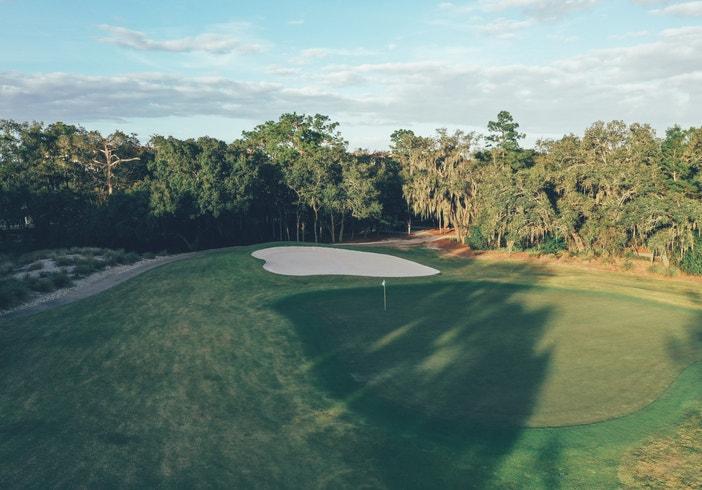 Golf course in East Village at Orange Lake Resort near Orlando, Florida