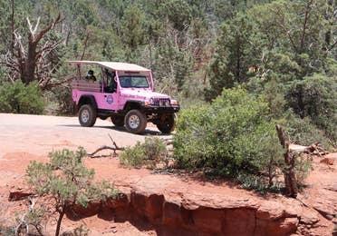 Pink Jeep Tour near Scottsdale Resort.