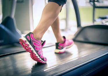 Person running on treadmill at Orange Lake Resort near Orlando, Florida