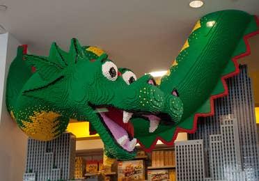 Lego store dragon at Legoland Park in Winter Haven, Florida