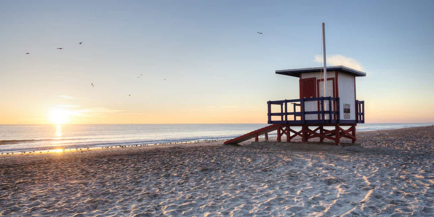 Lifeguard station on Cape Canaveral Beach