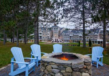 Firepit in front of Mount Ascutney Resort