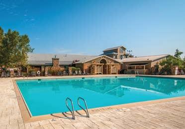 Outdoor pool at Apple Mountain Resort in Clarkesville, GA