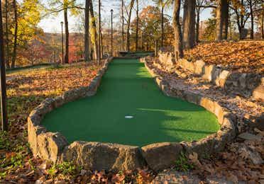 Outdoor mini golf course at Ozark Mountain Resort in Kimberling City, Missouri