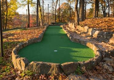 Outdoor mini golf course at Ozark Mountain Resort in Kimberling City, Missouri.