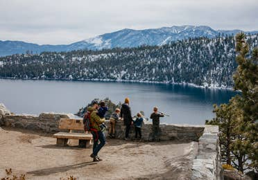 Family at Emerald State Park near Tahoe Ridge Resort in Stateline, Nevada.