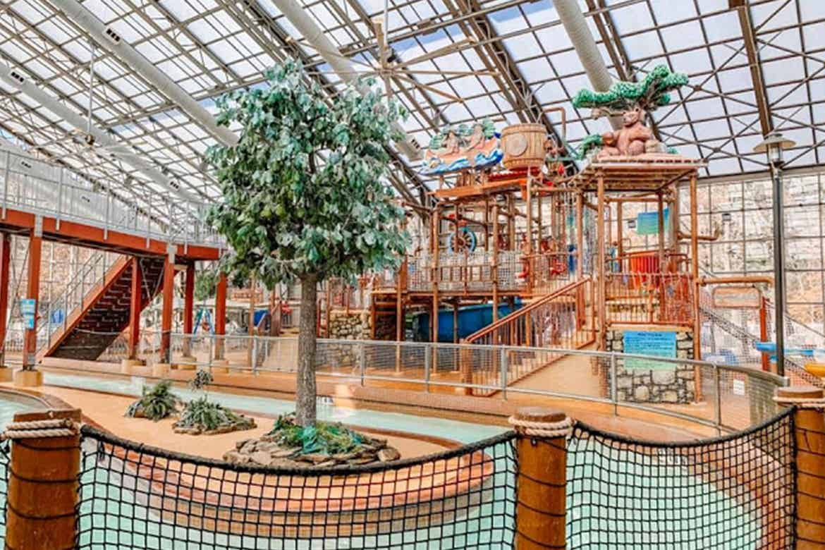 The indoor water park facility at our Villages Resort in Texas.