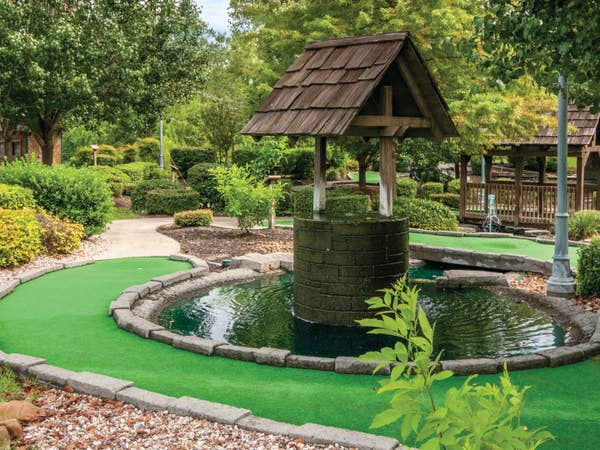 Mini golf course at Piney Shores Resort in Conroe, Texas.