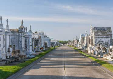 Above-ground cemetery in New Orleans.