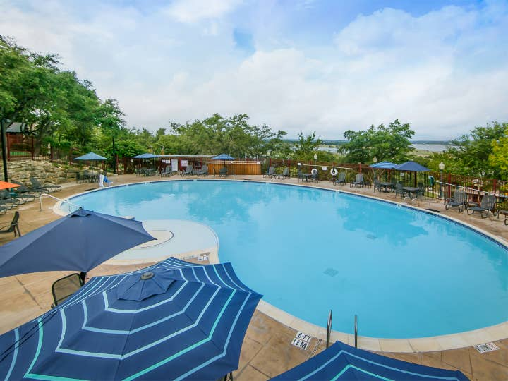 Presidential outdoor pool at Hill Country Resort in Hill Country, Texas.