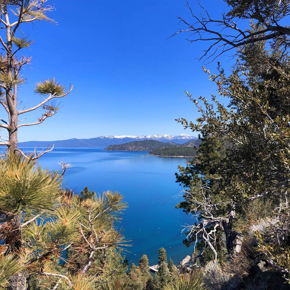 A view of the mountain range near our Tahoe Ridge Resort located in Lake Tahoe, Nevada.