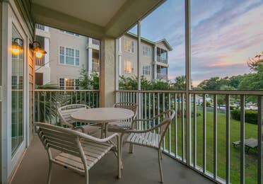 Balcony in a villa at South Beach Resort