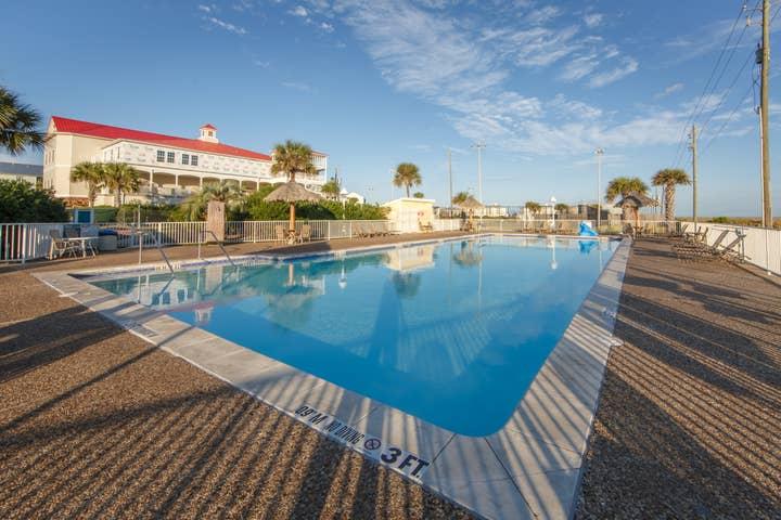 Outdoor pool at Galveston Seaside Resort