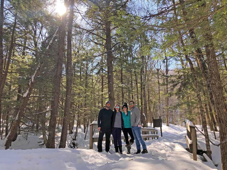 Jenn with friends in Waterville