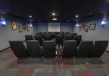 Movie theater at Mount Ascutney Resort in Brownsville, Vermont.