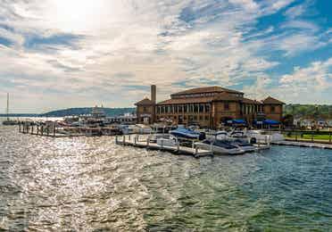 Cruises at Lake Geneva, Wisconsin.