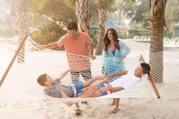 Family by hammock