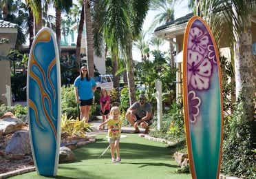 Outdoor mini-golf course at Cape Canaveral Beach Resort