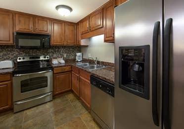 Kitchen in a one-bedroom villa at Mount Ascutney Resort in Brownsville, VT