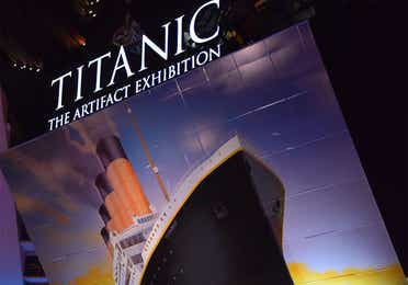 Titanic Museum attraction near Holiday Hills Resort.