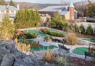 Miniature golf course at Oak n' Spruce Resort in South Lee, Massachusetts
