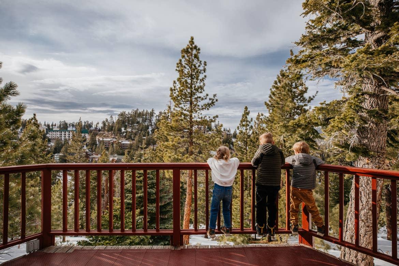 Andrea's children overlook our Tahoe Ridge Resort.