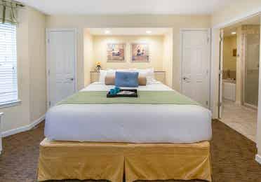 Master bedroom in a three-bedroom villa at Villages Resort