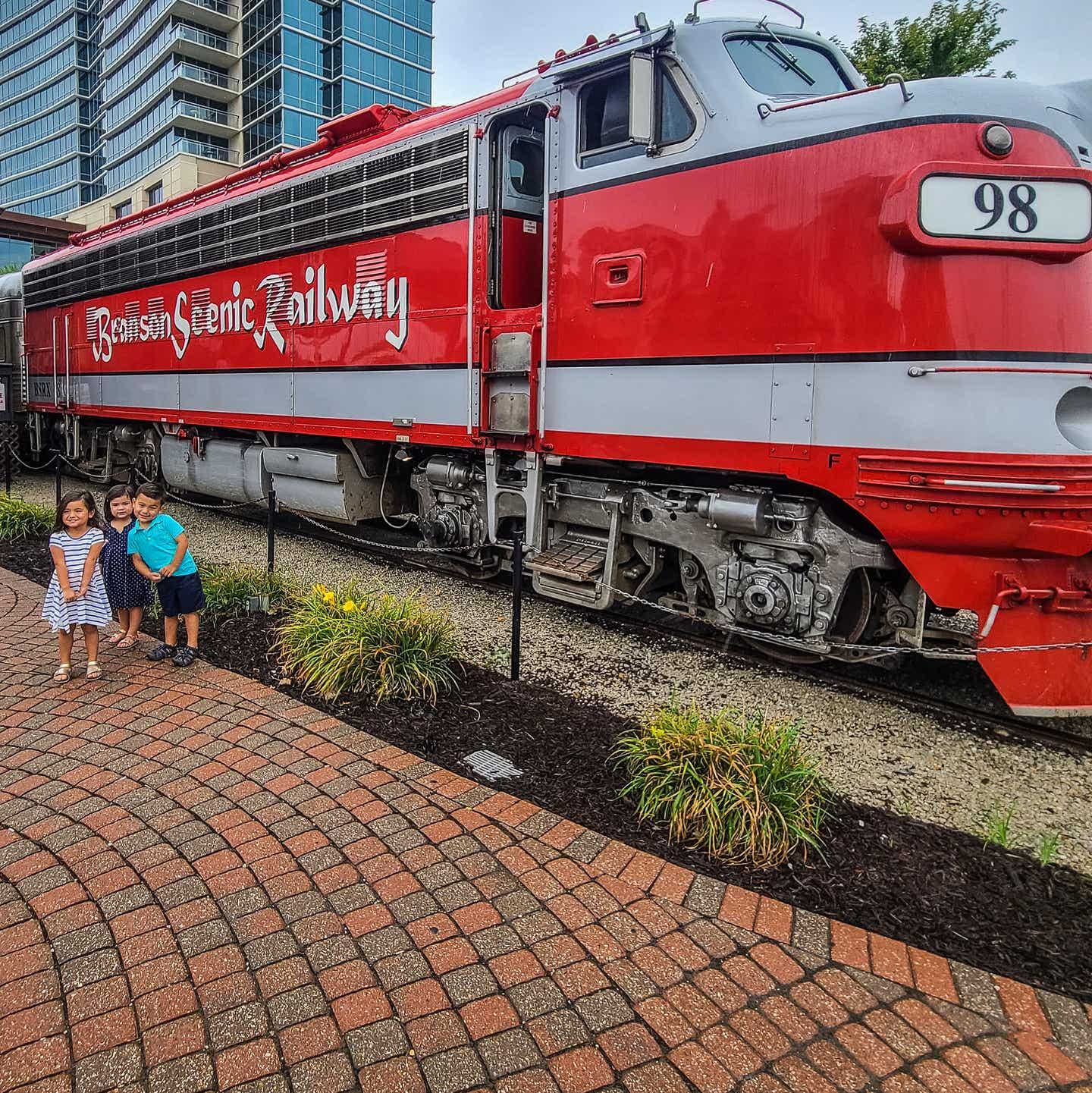 Angelica's kids at the Branson Scenic Railway