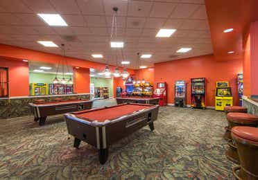 Game room with pool table at Cape Canaveral Beach Resort.