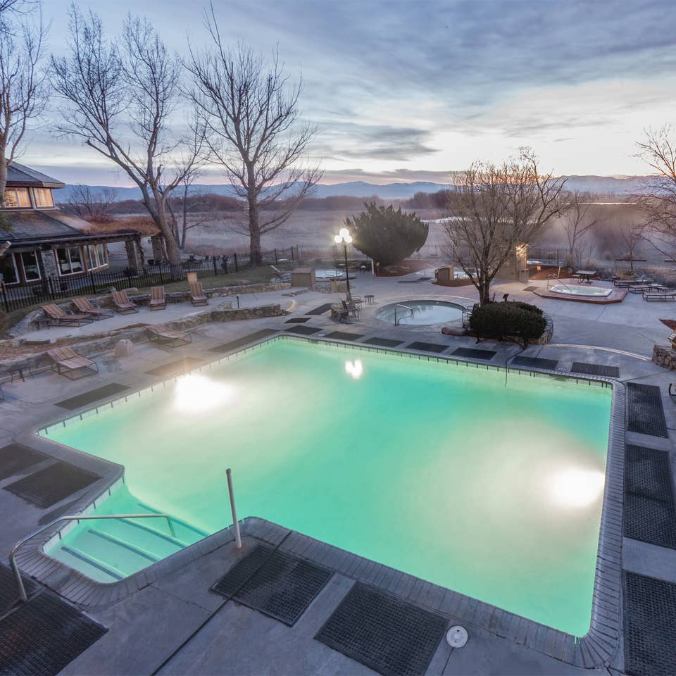 Hot springs pool at Tahoe Ridge Resort