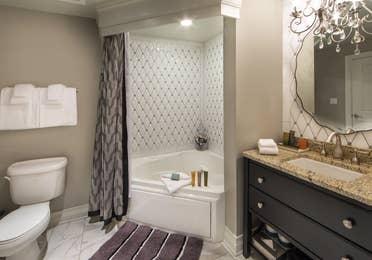 Bathroom in a Signature Collection villa at Williamsburg Resort