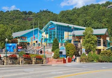 Exterior view of the Ripley's Aquarium in Gatlinburg, TN