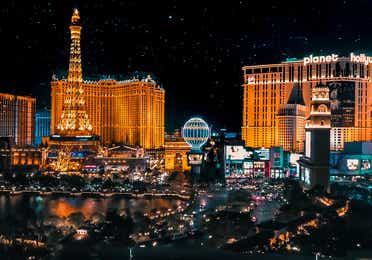 Las Vegas Strip near Desert Club Resort.