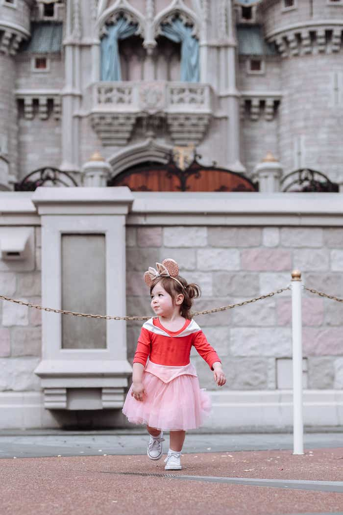 Mia's daughter at Magic Kingdom