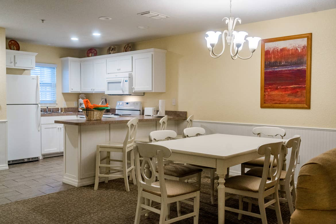 The kitchen of our Presidential villa at our Villages resort in Flint, Texas.
