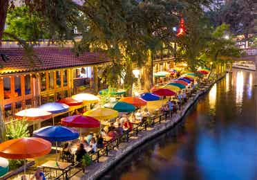 San Antonio River Walk near Hill Country Resort.