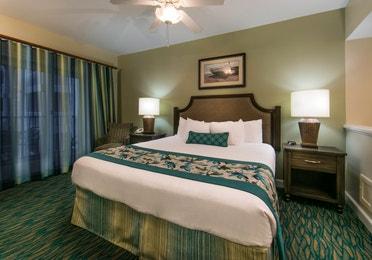 Bedroom in a two-bedroom villa at South Beach Resort