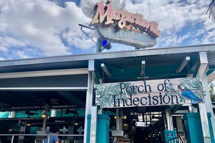 Margaritaville Porch of Indecision exterior.