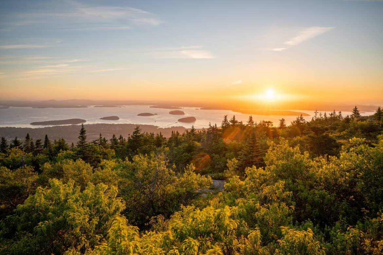 Sunrise at Cadillac Mountain, Acadia National Park
