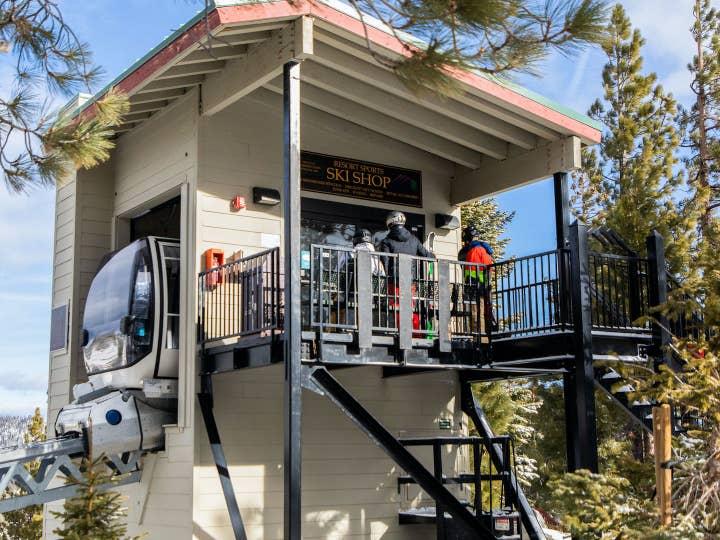 Skier Express at Tahoe Ridge Resort in Stateline, Nevada.