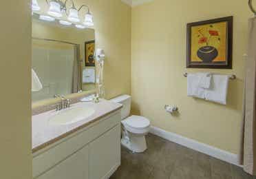 Bathroom in a one-bedroom villa at Apple Mountain Resort