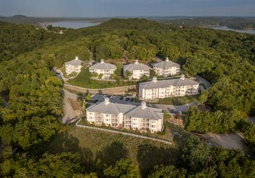 Aerial view of property at Ozark Mountain Resort in Kimberling City, MIssouri.