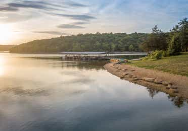 View of a lake at Ozark Mountain Resort in Kimberling City, MIssouri