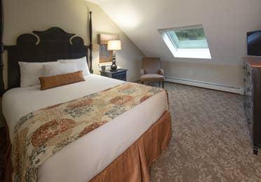 Bedroom in a three-bedroom villa at Mount Ascutney Resort in Brownsville, VT